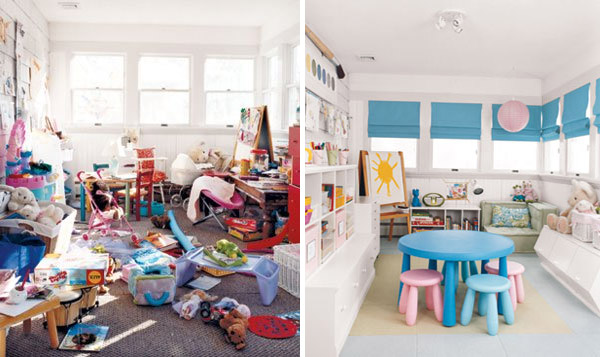 Play Room Before and After