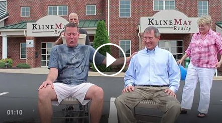 Chris Rooker and Karl Waizecker of Kline May Realty take the #ALSIceBucketChallenge