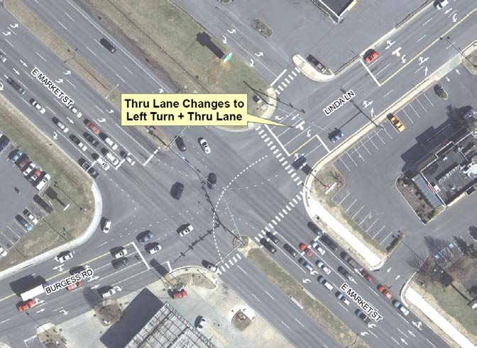 traffic configuration changes in Harrisonburg