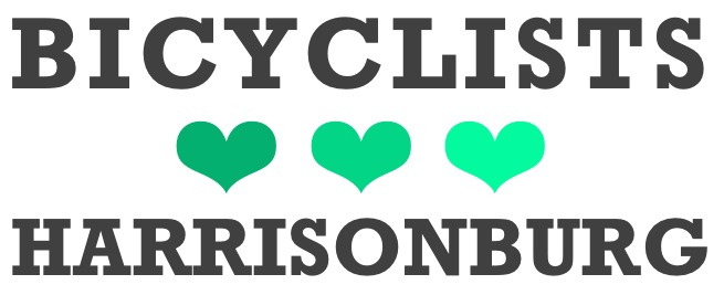 Bicyclists Love Harrisonburg | New City Bike Map