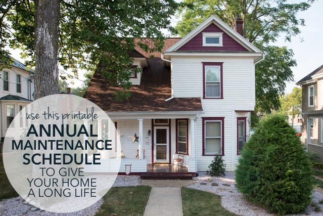 Printable Annual Home Maintenance Schedule