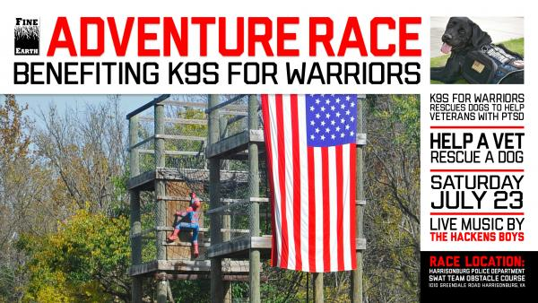 Fine Earth Adventure Race | K9s for Warriors | Harrisonburg