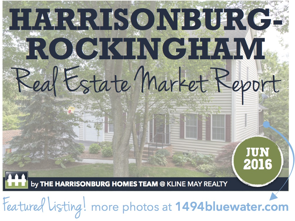 Harrisonburg Real Estate Market Report [INFOGRAPHIC]: June 2016 | The Harrisonburg Homes Team @ Kline May Realty