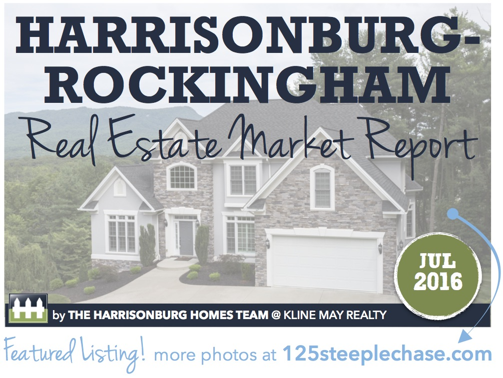 Harrisonburg Real Estate Market Report [INFOGRAPHIC]: July 2016 | The Harrisonburg Homes Team @ Kline May Realty