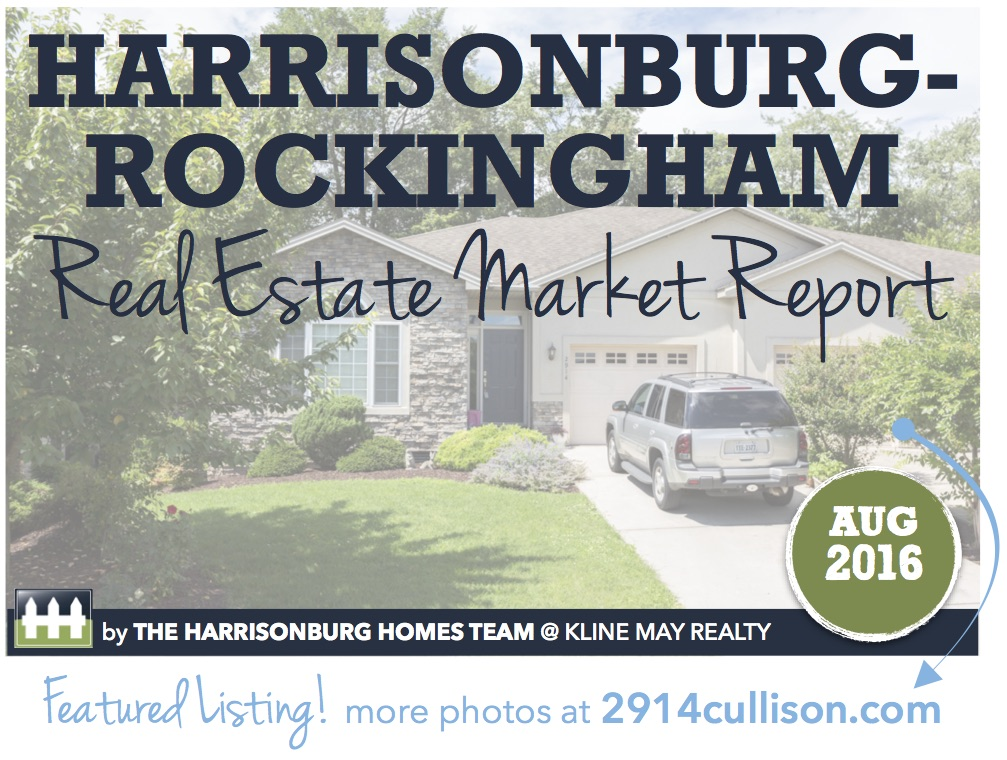 Harrisonburg Real Estate Market Report [INFOGRAPHIC]: August 2016 | Harrisonblog