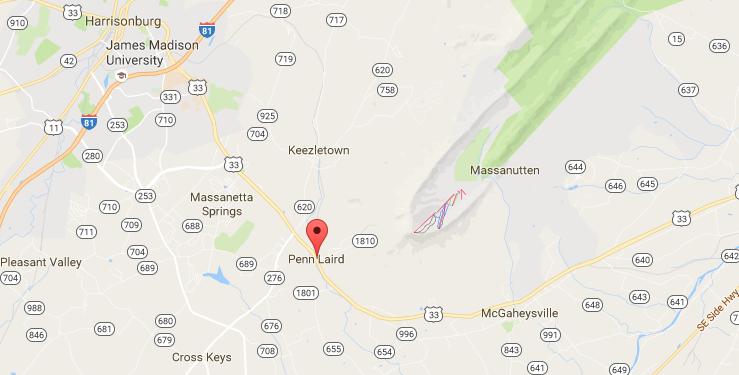 Map of Penn Laird, Virginia | Harrisonblog