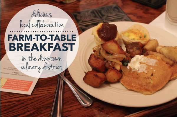 A Delicious Collaboration In The Harrisonburg Culinary District - Farm to table breakfast near me