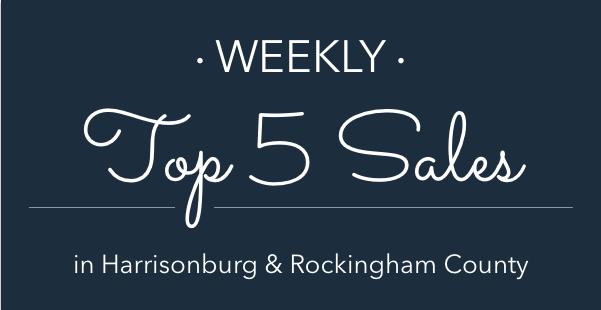 Weekly Top 5 Sales in Harrisonburg and Rockingham County | Harrisonblog